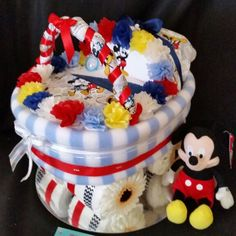 Mickey themed Pram baby gift #Shaleagifts #Uniquebabygifts #Newbaby #Findmeonfacebook shalea.gifts@gmail.com Qld Based - Ships Australia wide