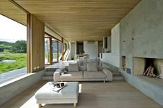 I love the neutrality of this room.  Dalene Cabin | Tommie Wilhelmsen