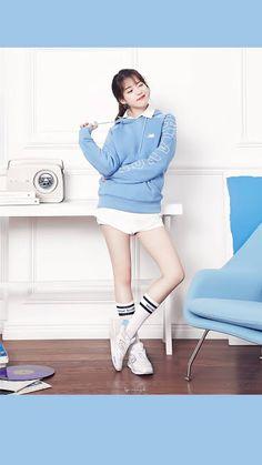 IU (아이유) Iu Fashion, Korean Fashion, Fashion Design, Korean Women, Korean Girl, J Pop, New Balance Outfit, Pose Reference Photo, Sexy Socks