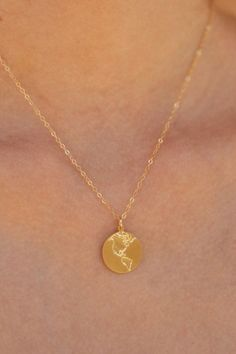 Gold Earth Necklace Globe Necklace World by meytalbarnoy on Etsy