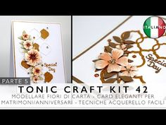 Card per Matrimoni/Anniversari - Modellare fiori di carta + Acquerello   Tonic Craft Kit 42 (ITA) - YouTube Studios, Place Cards, Place Card Holders, Youtube, Youtubers, Youtube Movies