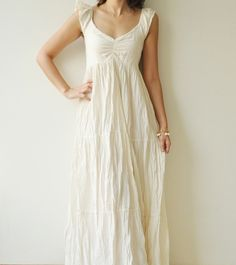 This could be pretty with some sparkle...but still feels as hippie as my original dress.
