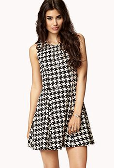 Houndstooth A-Line Dress | FOREVER 21 - 2000074355