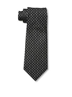 Valentino Men's Patterned Tie, Black/Silver