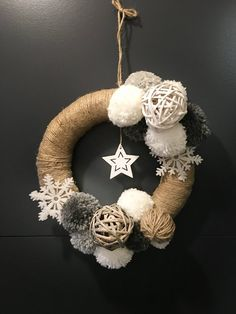Your place to buy and sell all things handmade Natural Christmas, Simple Christmas, Christmas Gnome, Christmas Crafts, Curtain Rings Crafts, Yarn Trees, Christmas Candle Decorations, Ring Crafts, Craft Show Ideas