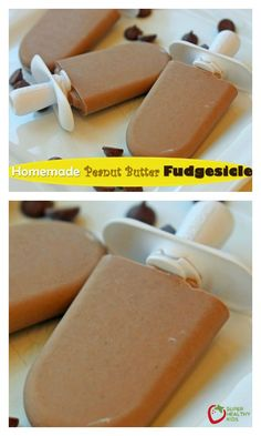 Homemade Peanut Butter Fudgesicle Recipe - Sometimes the kids need a treat. But sometimes, mom and dad just need chocolate! This recipe covers both of those times! http://www.superhealthykids.com/homemade-peanut-butter-fudgesicle/