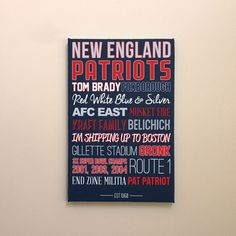 new england patriots canvas art poster gift etsy #patriots #etsy #Gift