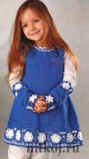 How to crochet : Crochet Patterns  for free  Crochet Baby dress  17...