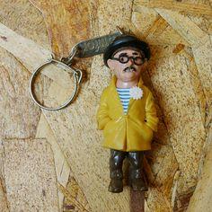 【ビンテージ】フランス製70sダンディなおじさんキーホルダー