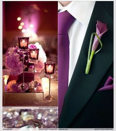 Love the purple calla Lilly matching tie and of course hanky