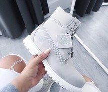 timberland grise semelle blanche