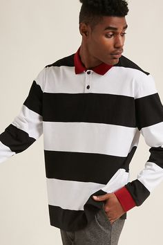 Product Name:Stripe Polo Shirt, Category:Tops, Price:24.90
