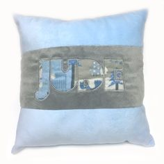 Minky Appliquéd Pillow (Jude)
