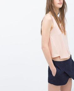 Image 1 of CROP T-SHIRT from Zara