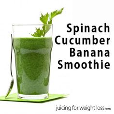 """This is one of my favorite """"green"""" smoothies as I get the wonderful dense nutrients from the spinach and cucumber, yet the banana adds a creamy non-dairy texture."""