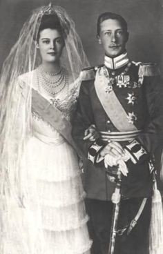 Crownprince Wilhelm of Prussia and Cecilie of Mecklenburg-Schwerin