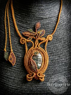 Tree of Life Macrame Agate Necklace.Agate Gemstone. Rudraksha seed. Unique jewelry.Unique gift