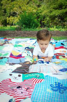 Memory Quilt! LOVE!! This is awesome :) it keeps the original shape of the clothes and she can size it to hold anywhere from 40 to 150 items!
