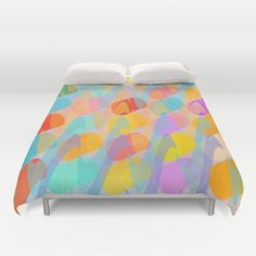 Waves and Spots Duvet Cover by Mirimo | Society6