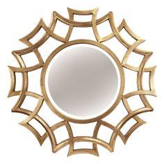 40-in Gold Cutout Mirror