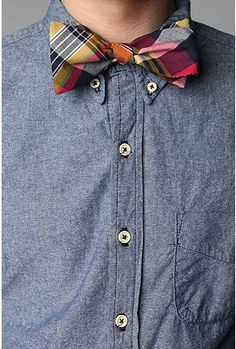 Madras Plaid Bowtie - Urban Outfitters