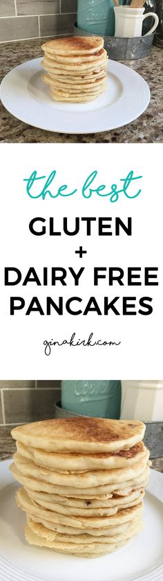 Pancakes are a weekend breakfast staple in our house. Here's my favorite gluten and dairy free pancake recipe! What's For Breakfast, Breakfast Recipes, Vegan Vegetarian, Vegetarian Recipes, Dairy Free Pancakes, Best Pancake Recipe, Kid Friendly Meals, Forks, Gluten Free Recipes