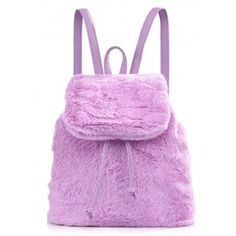 SPICE UP YA LIFE LILAC FAUX FUR BACKPACK