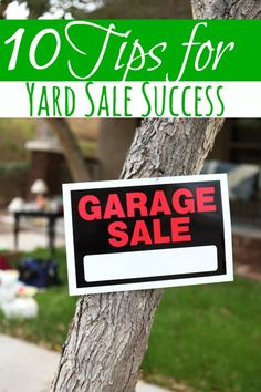 Warmer weather means lots of yard sales! If you're planning one this year, these 10 Tips for Yard Sale Success will make certain that you have a successful, profitable sale!