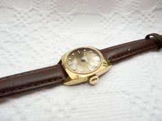vintage german mechanical gold plated Bifora ladies watch