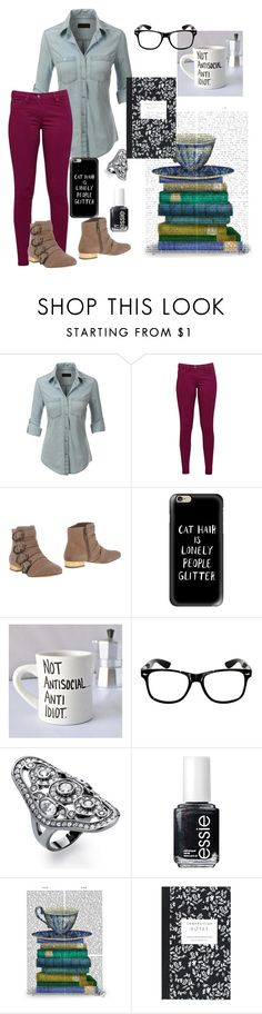 """""""Untitled #152"""" by beck133 ❤ liked on Polyvore featuring mode, LE3NO, Great Plains, Sam Edelman, Casetify, Palm Beach Jewelry, Essie, FabFunky, Dot & Bo et women's clothing"""