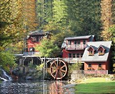 Asheville, North Carolina.. i must ! this is so rustic looking love the waterwheel!