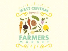 Pumped to be working on a poster for a local farmers market in the area.