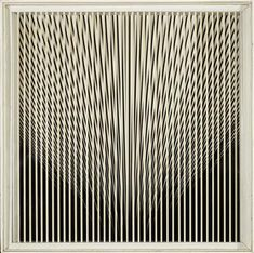 Alberto Biasi  (born in Padova in 1937)  Visione dinamica, 1962, titled, signed, dated, inscribed Alberto Biasi del Gruppo Enne, 1962 and stamp with monogram E. T. on the reverse, PVC on laquered panel with box frame 61.5 x 61.5 x 9 cm), (MCC)