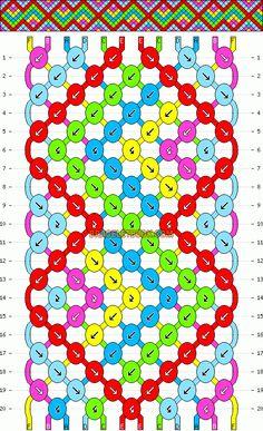 Normal Friendship Bracelet Pattern #6128 - BraceletBook.com