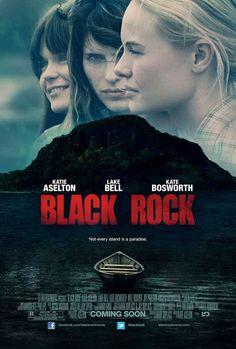 Black Rock (2012) Horror/Thriller, Sarah nodigt haar oude jeugdvrienden Abby en Lou uit voor een reünie en gaat samen met hen naar een afgelegen eiland voor de kust van Maine. Er wordt gelachen, gehuild en gedronken. Maar door een verkeerde zet verandert hun weekendje in een dodelijk gevecht om te overleven.