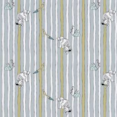 Smoke Smoke Bunny from the Original fabric collection by Victoria Verbaan & the smoking daxi