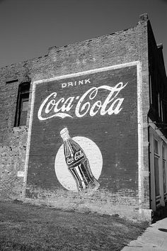 Route 66 Fine Art Photography. Coca Cola Ghost Mural, Stroud, Oklahoma, on old Rt. 66.