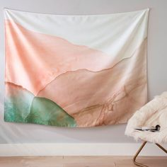 Made from recycled plastic water bottles, our eco-friendly Calm Pool Tapestry brings chill vibes to your teen's bedroom. It's brought to you in collaboration with Pottery Barn Teen. College Room Decor, Dorm Room, Forest Mural, Dorm Walls, Pottery Barn Teen, Boho Nursery, Recycled Fabric, Cotton Bedding, Wall Tapestry