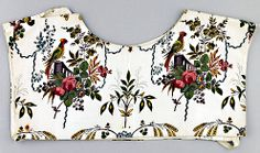 Sitsen beuk van Schouwen, met fraai bloemmotief (Zeeuws Museum-collectie KZGW) - Sits is een fijne, met de hand beschilderde katoen uit India. Het raakt aan het eind van de 18e eeuw in de vrouwendracht in zwang voor schorten, beuken, jakken, losse mouwen en voeringen van de strohoeden (zie rechts). Mannen dragen hemdrokken van sits