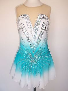 NEW FIGURE ICE SKATING BATON TWIRLING DRESS COSTUME CHILD L