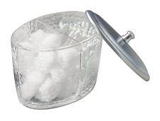 mDesign distributeur de boules de coton avec couvercle - bocal en verre  23.98