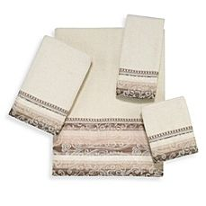 image of Avanti Grandview Bath Towel Collection in Ivory