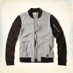 Guys Color Block Bomber Sweatshirt | Guys Tops | HollisterCo.com
