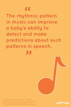 Music helps babies ability to detect and make predictions about patterns in speech Music Classes For Babies, Music For Toddlers, Nursery Rhythm, Rhythmic Pattern, Reading Music, Physical Development, Music And Movement, Academy Of Sciences, Baby Music
