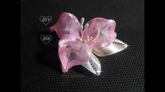 Цветок из органзы МК / DIY Organza flower/ PAP Flor de Organza Tutorial