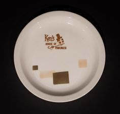 """Ken's House of Pancakes, Bay Area 7.25"""" Plate  by Tepco China, circa 1950s-1960s Offered by Track 16. http://www.track16.com #restaurantware #restaurantchina"""