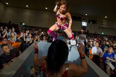 Japanese women's professional wrestling can be intense and brutal in the ring, while promoting fantasy elements to its mostly-male fan base.