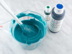 How to make autumn blue icing by Semi Sweet Designs