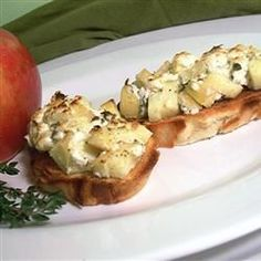 Appel en geitenkaas bruschetta @ allrecipes.nl