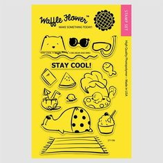 Waffle Flower STAY COOL Clear Stamp Set 271106                                        $15.99